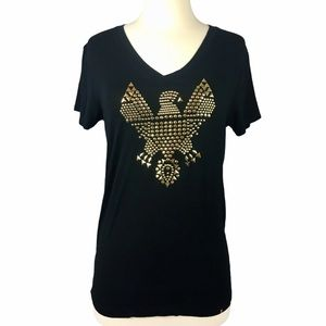 Kings of Cole Black Gold Eagle Tee Size XS